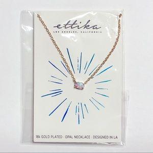 Ettika Kyocera Opal & 18kt Gold Plated Necklace